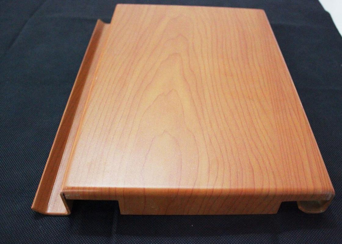 Non Flammable Aluminum Solid Panel Wooden Aluminium
