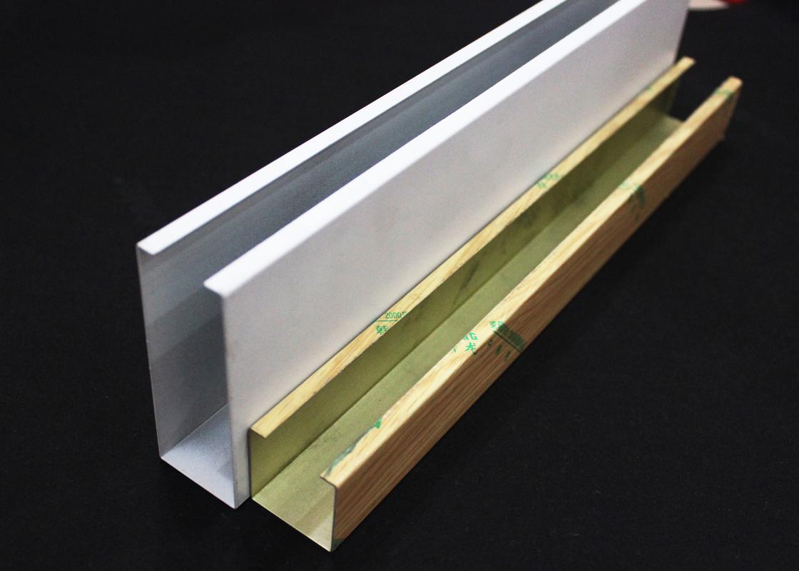 Techo de la pantalla del perfil del u aluminio del metal - Perfil de aluminio en u ...