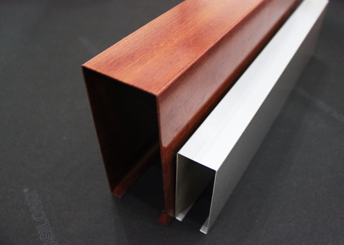 Metal linear u techo de aluminio de la pantalla del - Perfil de aluminio en u ...