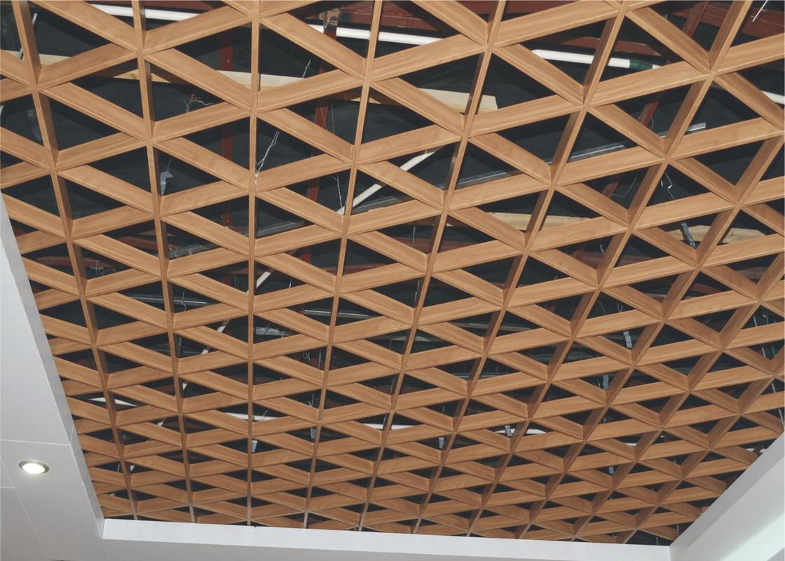 튼튼한 녹색 화랑 삼각형 금속 격자 천장 장식적인 금속 건축재료