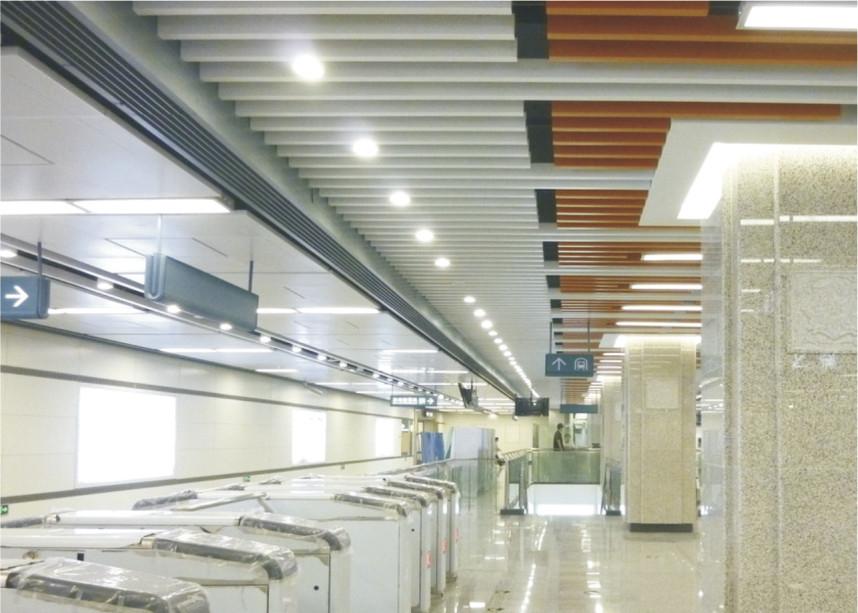 Curling J Shaped Plug In Floating Ceiling Tiles Custom Aluminum