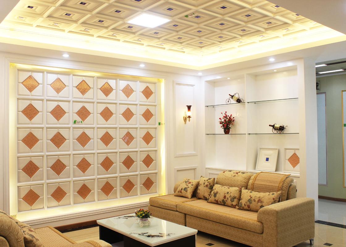 Interior que adorna las tejas art sticas de los paneles de - Paneles decorativos para techos ...