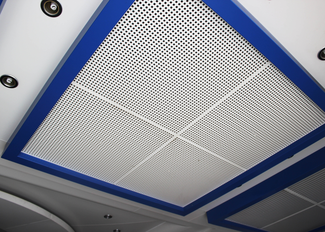 Perforated Metal Suspended Ceiling Tiles with Sound Insulation on