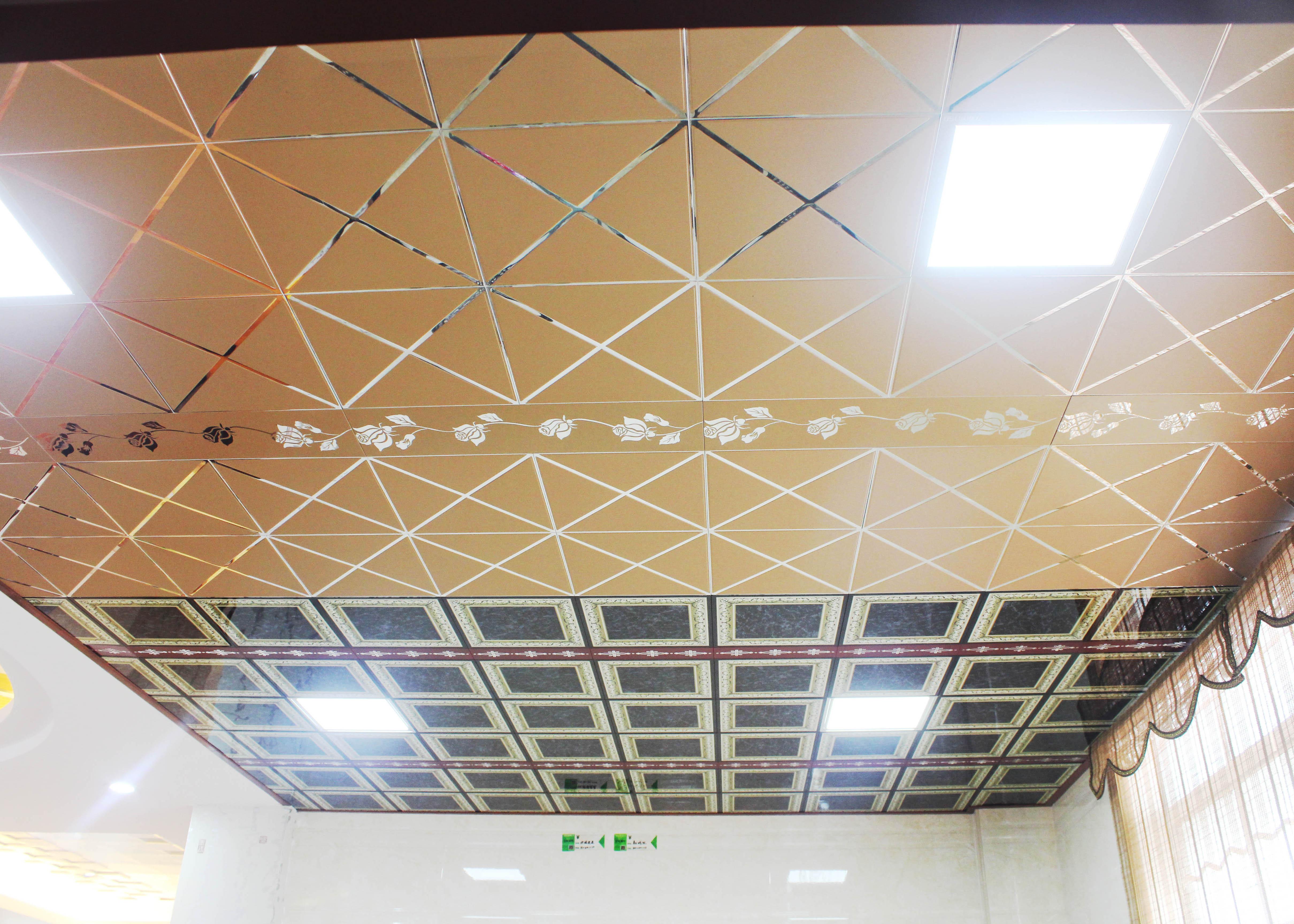 Carved Drop Ceiling Tiles Basement Decorative Suspended Ceiling Panel